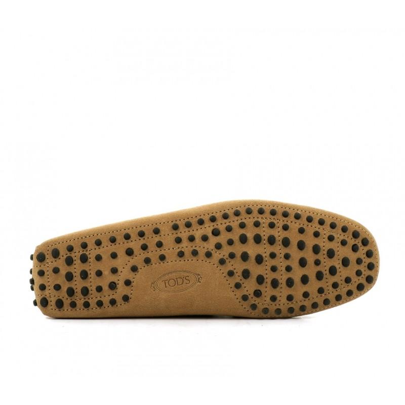 tod's mocassins et slippers Mocassins Gommino à LacetsTODNEU - NUBUCK - BISCUIT