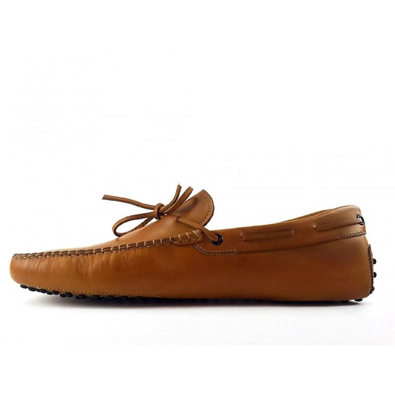 tod's mocassins et slippers Mocassins Gommino à LacetsTODNEU - CUIR - GOLD (2)