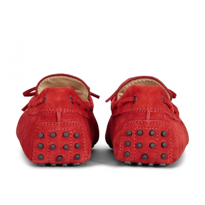 tod's mocassins et slippers Mocassins Gommino à LacetsTODNEU - NUBUCK - ROUGE