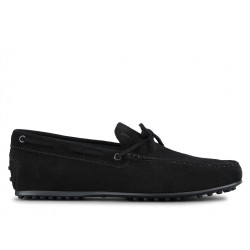 tod's mocassins et slippers Mocassins City GomminoBABYLONE - NUBUCK - NOIR
