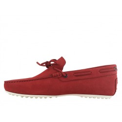 tod's mocassins et slippers Mocassins City GomminoBABYLONE - NUBUCK - ROUGE