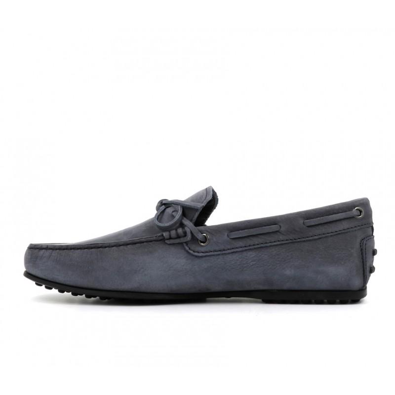 tod's mocassins et slippers Mocassins City GomminoBABYLONE - NUBUK DÉLAVÉ - BLEU