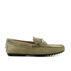 tod's mocassins et slippers Mocassins City GomminoBABYLONE - NUBUCK - OLIVE