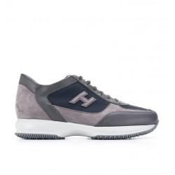 hogan sneakers Sneakers InteractiveHH INTERACTIVE - CUIR, NUBUCK ET