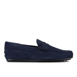 tod's mocassins et slippers Mocassins City GomminoBROKEN - NUBUCK - BLEU