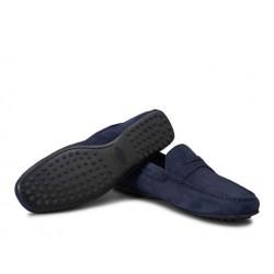 tod's mocassins et slippers Mocassins City GomminoBROKEN - NUBUCK - BLEU