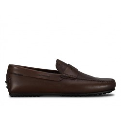 tod's mocassins et slippers Mocassins City GomminoBROKEN - CUIR - MARRON