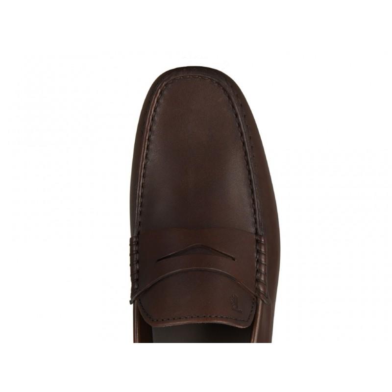 tod's mocassins et slippers Mocassins City GomminoBROKEN - CUIR - MARRON