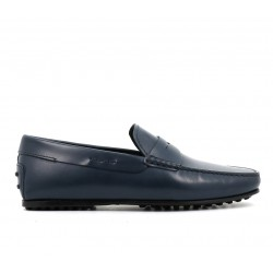 tod's mocassins et slippers Mocassins City GomminoBROKEN - CUIR - BLEU (2)