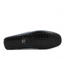 tod's mocassins et slippers Mocassins City GomminoBROKEN - CUIR - BLEU (2)