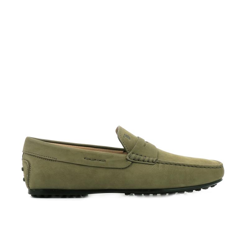 tod's mocassins et slippers Mocassins City GomminoBROKEN - NUBUCK - KAKI