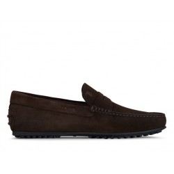 tod's mocassins et slippers Mocassins City GomminoBROKEN - NUBUCK - CHOCOLAT