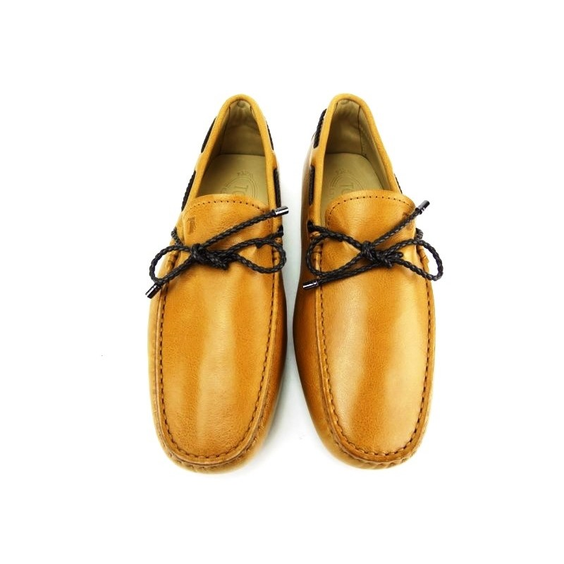 tod's mocassins et slippers Mocassins Gommino à LacetsTODNEU (2) - CUIR - GOLD