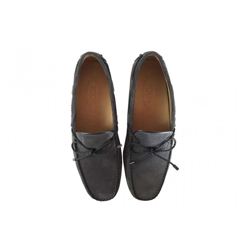 tod's mocassins et slippers Mocassins Gommino à LacetsTODNEU (2) - NUBUCK - ANTHRACITE