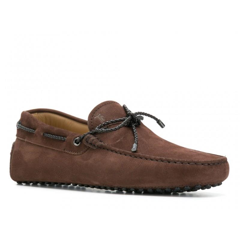 tod's mocassins et slippers Mocassins Gommino à LacetsTODNEU (2) - NUBUCK - MARRON