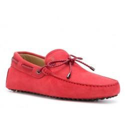 tod's mocassins et slippers Mocassins Gommino à LacetsTODNEU (2) - NUBUCK - ROUGE