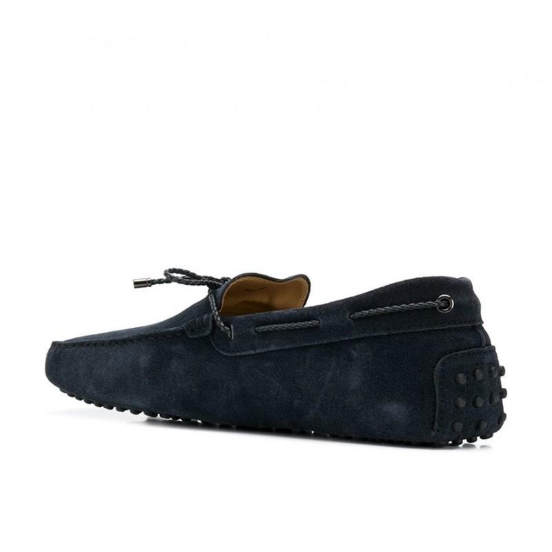 tod's mocassins et slippers Mocassins Gommino à LacetsTODNEU (2) - NUBUCK - MARINE