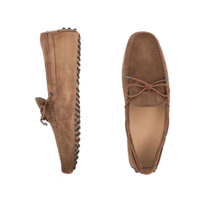 tod's mocassins et slippers Mocassins Gommino à LacetsTODNEU (2) - NUBUCK - NOISETTE