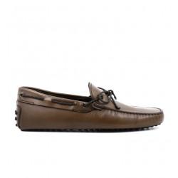 tod's mocassins et slippers Mocassins Gommino à LacetsTODNEU (2) - CUIR PATINÉ - CACAO