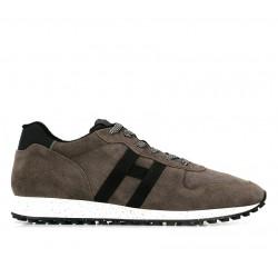 hogan nouveautés sneakers Sneakers H383HH H383 (1) - NUBUCK - TAUPE