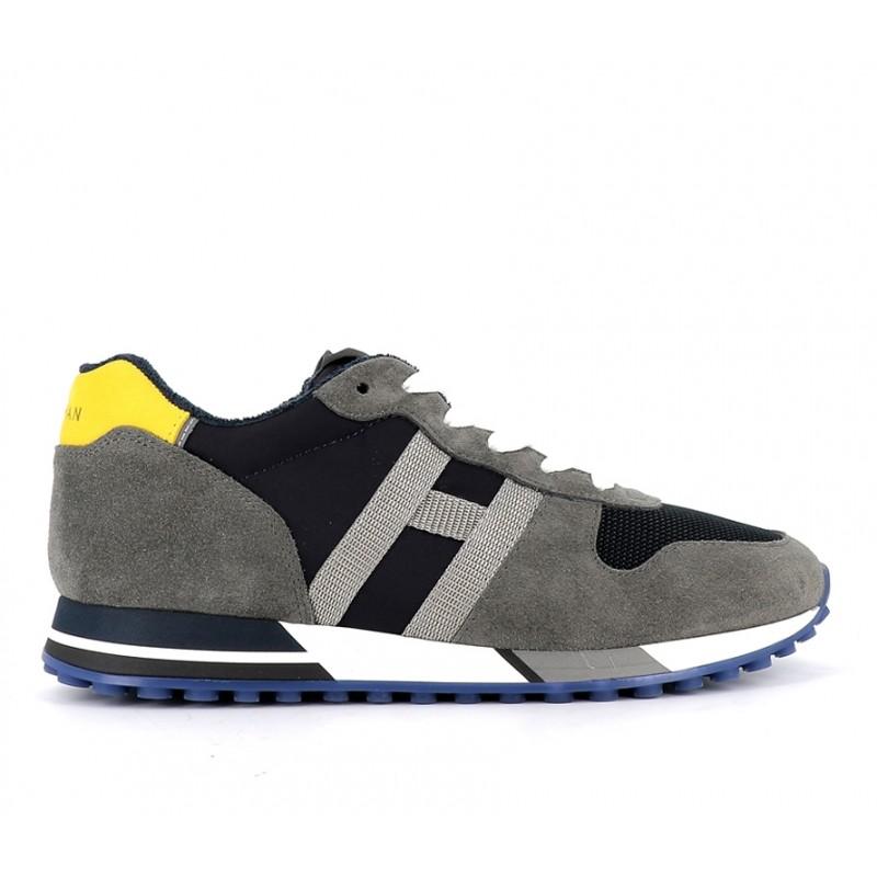 hogan promotions sneakers Sneakers H383HH H383 (2) - NUBUCK ET TOILE -