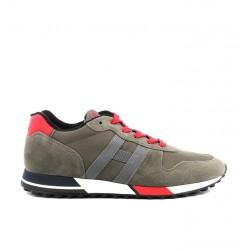 hogan nouveautés sneakers hh h383HH H383 - NUBUCK ET TOILE - KAKI