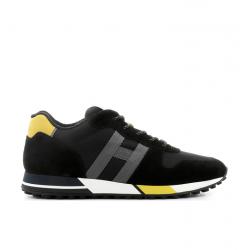hogan nouveautés sneakers Sneakers H383HH H383 - NUBUCK ET TOILE - NOIR