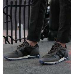 hogan nouveautés sneakers Sneakers H383HH H383 - NUBUCK ET TOILE DÉLAVÉ