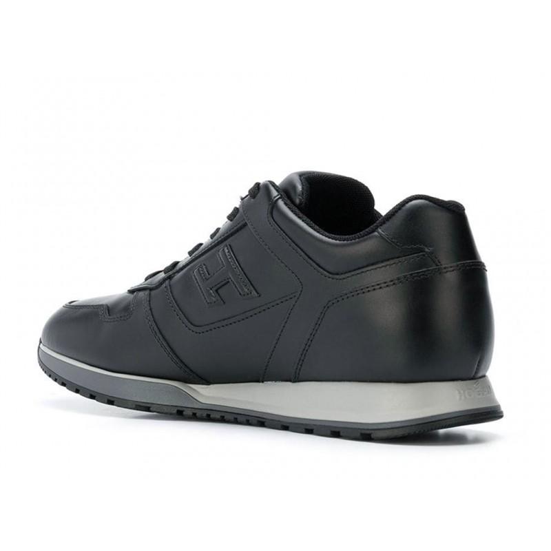 hogan sneakers Sneakers H321HH BASKETS H321 - CUIR - NOIR