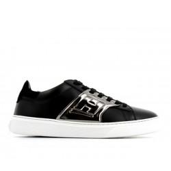 hogan promotions sneakers Sneakers H365HH H365 2 - CUIR - NOIR ET ACIER
