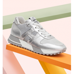 hogan nouveautés sneakers Sneakers H383HF BASKET H383 - CUIR ET TOILE -