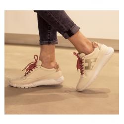 hogan nouveautés sneakers Sneakers Interactive 3HF INTERACTIVE3 - CUIR - IVOIRE,