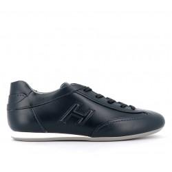 hogan nouveautés sneakers hf olympiaHF OLYMPIA - CUIR - BLEU (2)