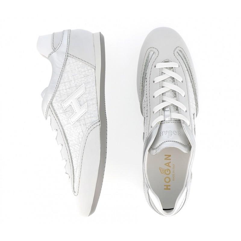 hogan nouveautés sneakers Sneakers OlympiaHF OLYMPIA - NUBUCK ET TOILE - É