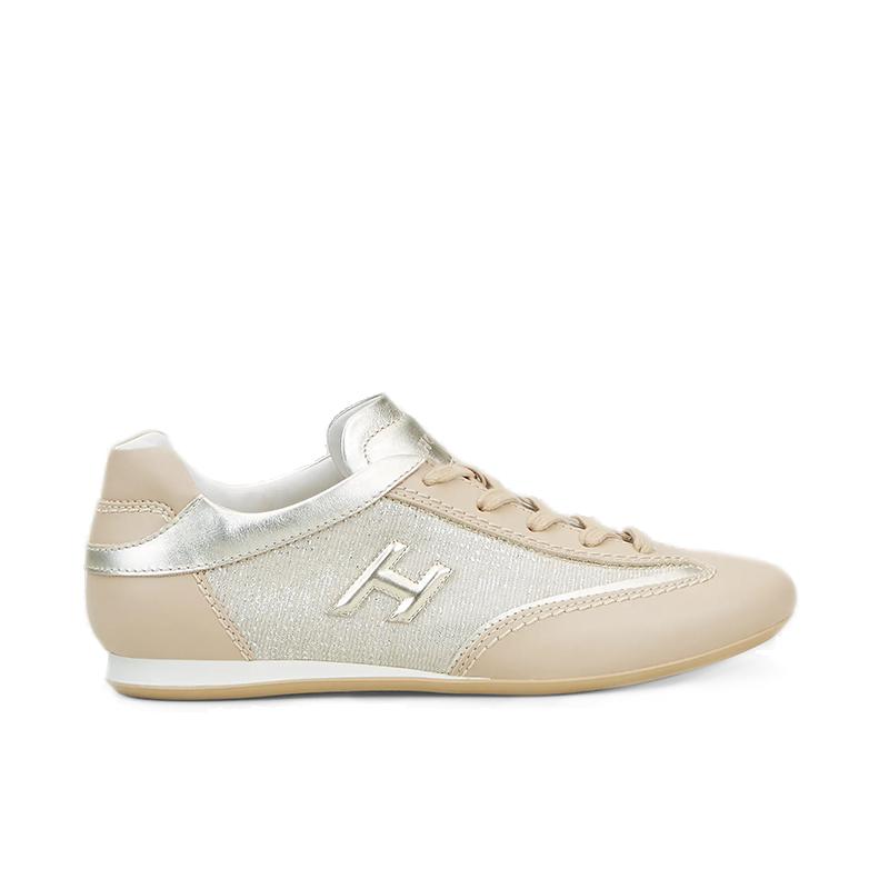 hogan sneakers Sneakers OlympiaHF OLYMPIA - CUIR ET TOILE - BEI