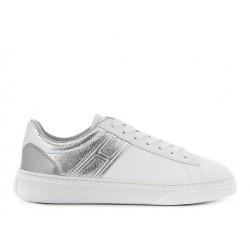 hogan promotions sneakers hf h365HF H365 - CUIR - ARGENT ET BLANC