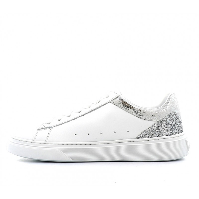hogan sneakers Sneakers H365HF H365 - CUIR ET GLITTER - BLAN