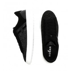 hogan promotions sneakers Sneakers H365HF H365 - GLITTER ET NUBUCK - NO