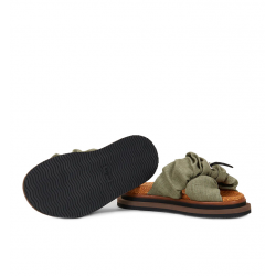 hogan nouveautés sandales Sandales SlidesHF SLIDES - TISSUS - KAKI