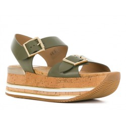 hogan promotions sandales Sandales Maxi H222ELIA MAXI - CUIR - KAKI