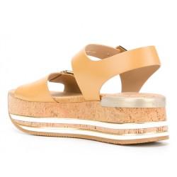 hogan promotions sandales Sandales Maxi H222ELIA MAXI - CUIR - NATUREL
