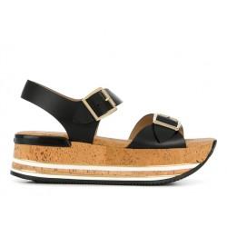 hogan promotions sandales Sandales Maxi H222ELIA MAXI - CUIR - NOIR