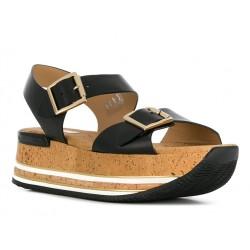 hogan sandales Sandales Maxi H222ELIA MAXI - CUIR - NOIR