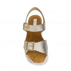 hogan sandales Sandales Maxi H222ELIA MAXI - CUIR METALLISÉ - PLA