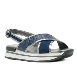 hogan promotions sandales Sandales H222ELIA CROISE 2 - CUIR ET NUBUCK -