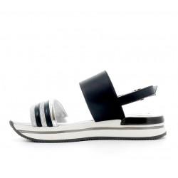 hogan sandales Sandales H222ELIA BANDES (2) - CUIR - MARINE