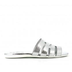 hogan promotions sandales Sandales SlidesVALMA - CUIR - ARGENT