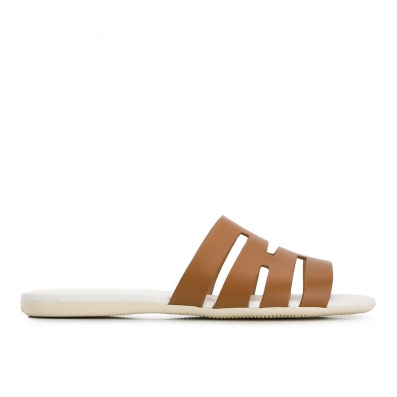 hogan promotions sandales Sandales SlidesVALMA - CUIR - NATUREL