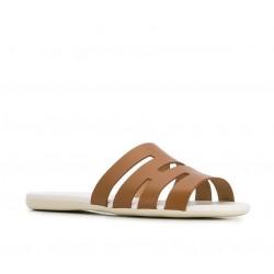 hogan sandales Sandales SlidesVALMA - CUIR - NATUREL
