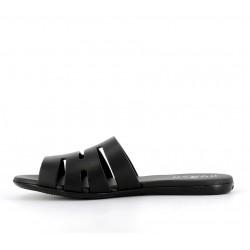 hogan promotions sandales Sandales SlidesVALMA - CUIR - NOIR
